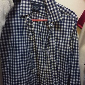 Blue and white gingham Ralph Lauren button up